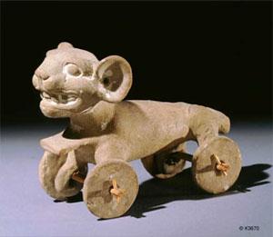 Un jouet précolombien monté sur roues