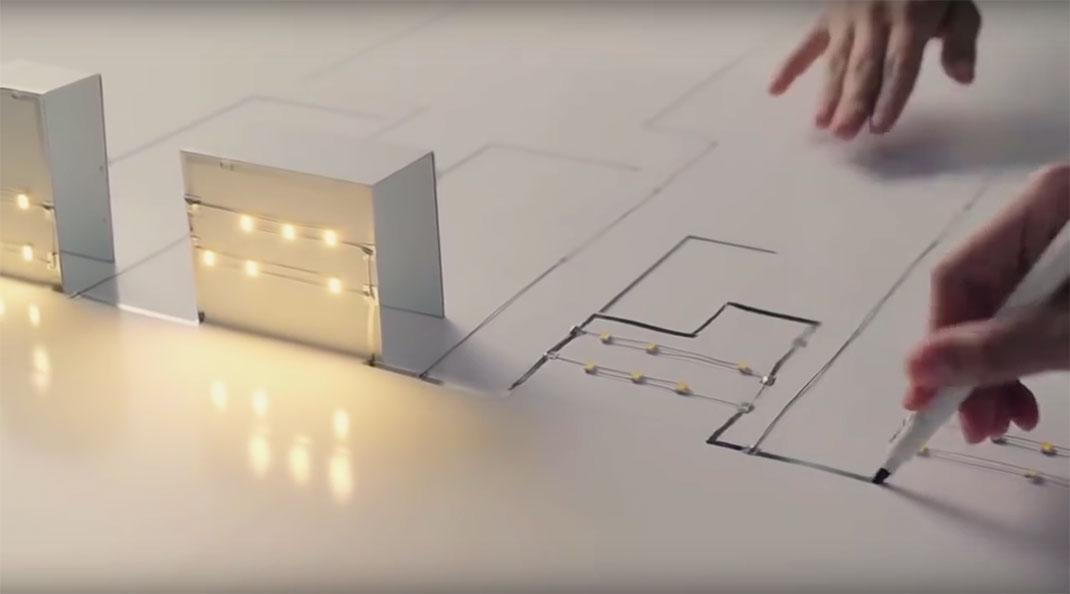 Ce stylo crée des circuits électrique