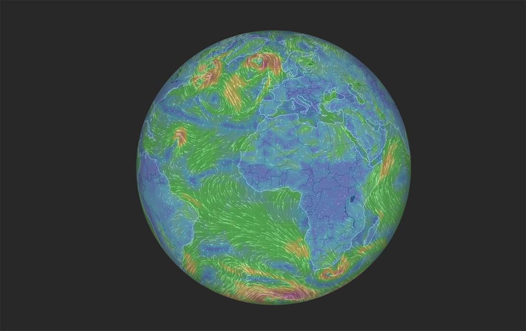 Windyty réinvente la météo avec son design unique et son interactivité