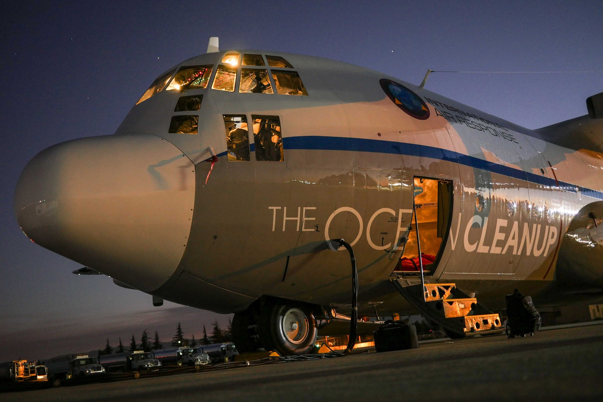 L'avion de reconnaissance de The Ocean Cleanup