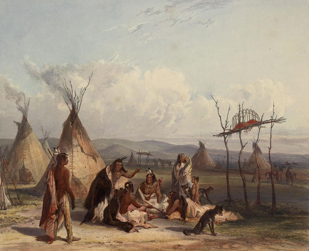 Enterrement d'un chef Sioux