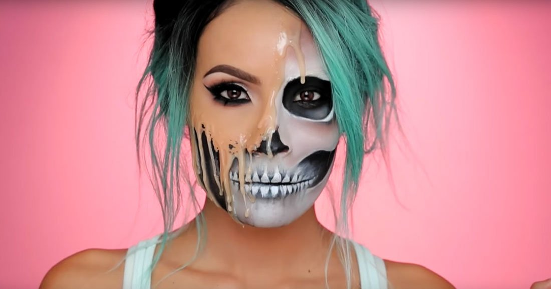 maquillage squelette pour halloween