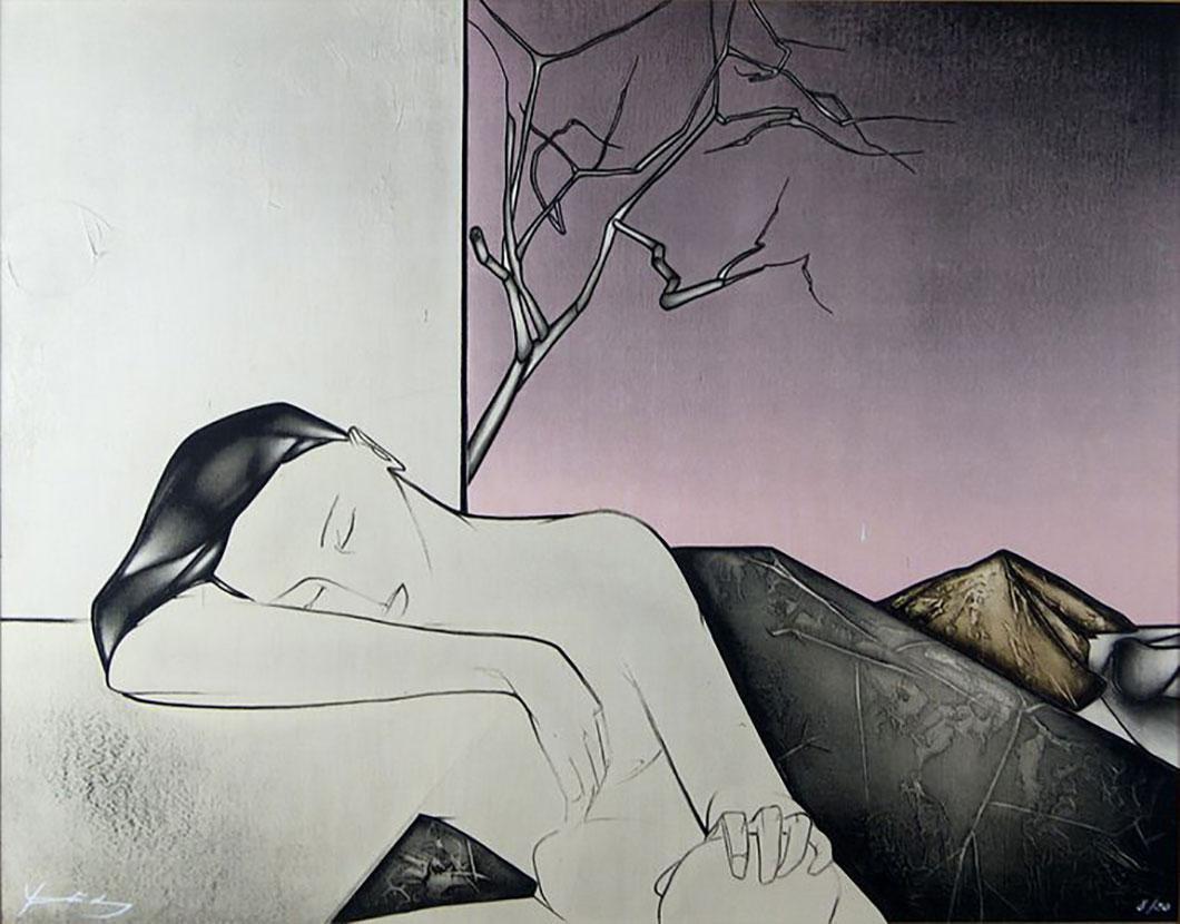 """""""Sommeil dans un paysage"""", G. Yatrides (1973)"""