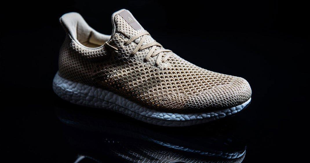 Adidas D'une Fabriquées À Biodégradables Dévoile Des Partir Baskets SzVMGpqU