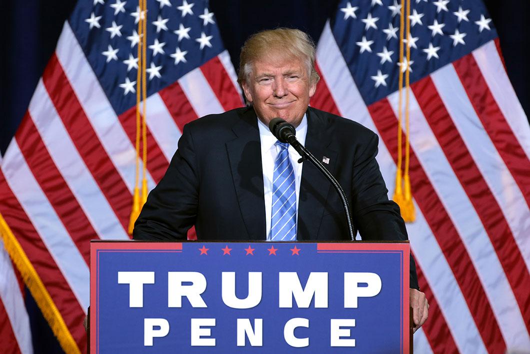 Donald Trump lors de sa campagne présidentielle