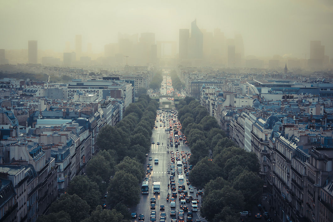Paris sous la pollution © FlickR / Damián Bakarcic