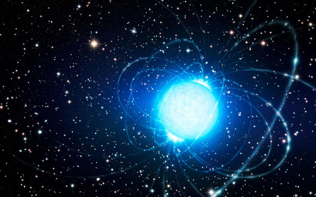 Vision d'artiste d'une étoile à neutron