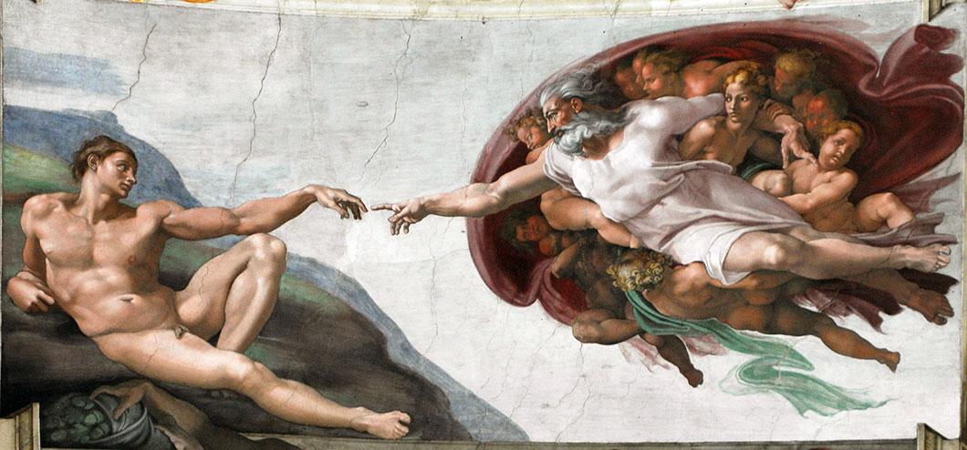 Michel-Ange semble avoir caché un message dans sa fresque : le divin serait une projection de l'esprit humain...