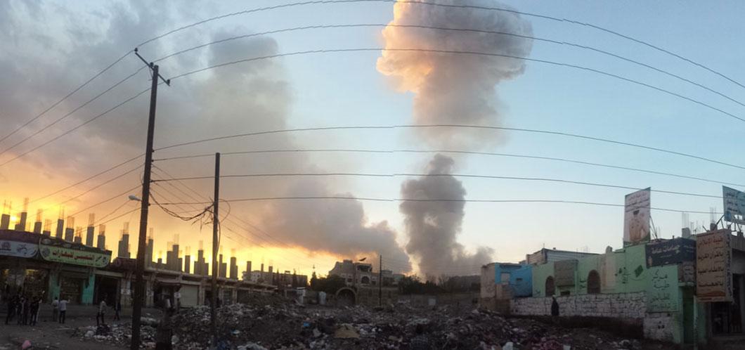Sanaa la capitale du Yémen est ravagé par la guerre