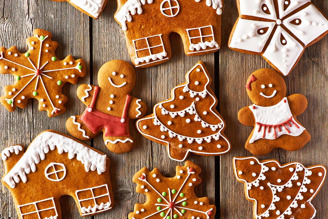 Des biscuits de Noël via Shutterstock