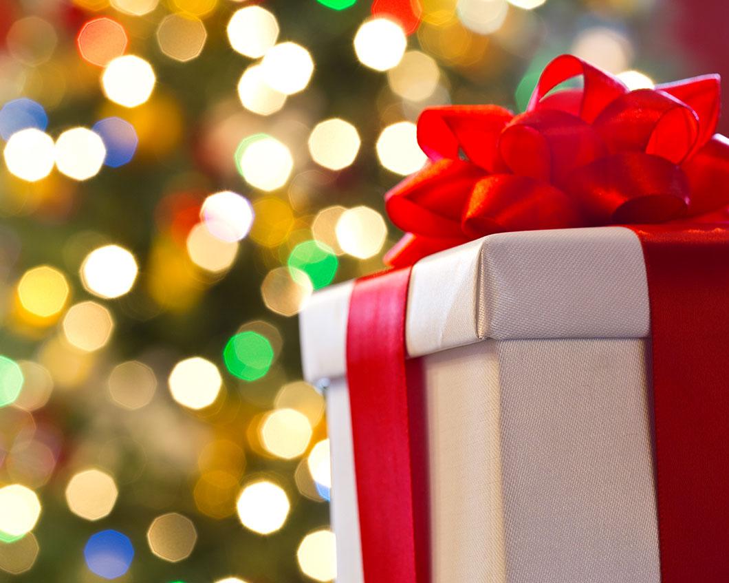 Un cadeau de Noël via Shutterstock