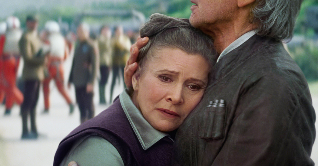 Carrie Fisher dans Star Wars : Le Réveil de la Force