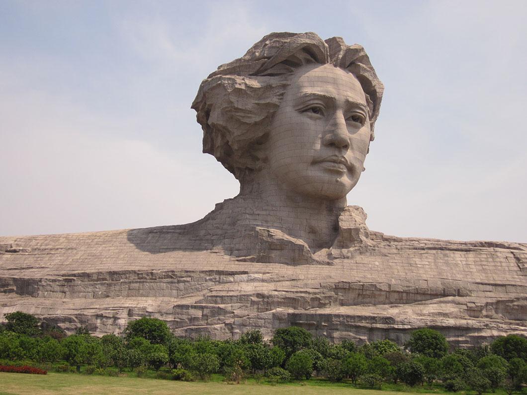 Une sculpture de Mao Zedong