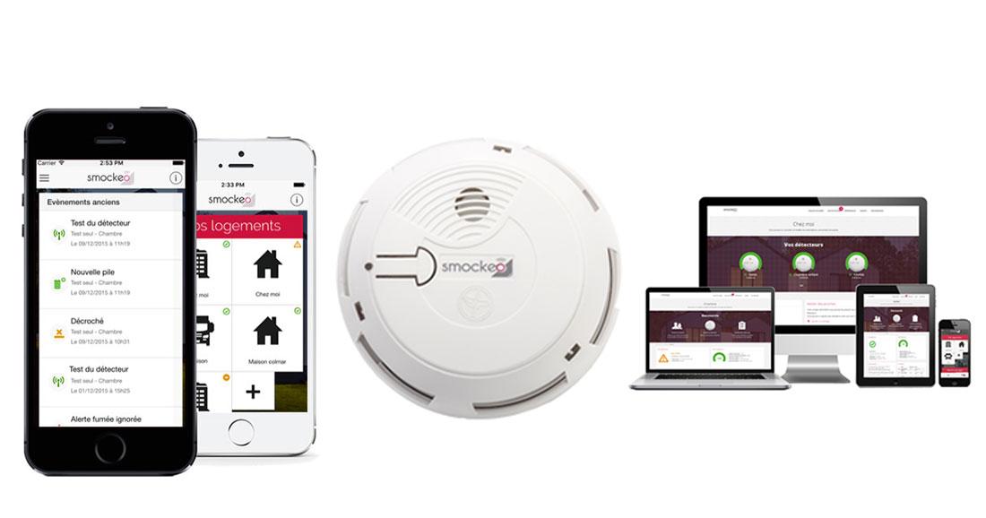 Smockeo le d tecteur de fum e qui vous permet de surveiller votre maison depuis votre - Detecteur de fumee qui bip ...