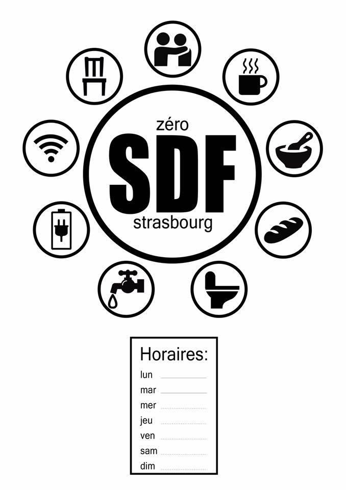 Le pictogramme destiné aux restaurateurs © 0 SDF à Strasbourg