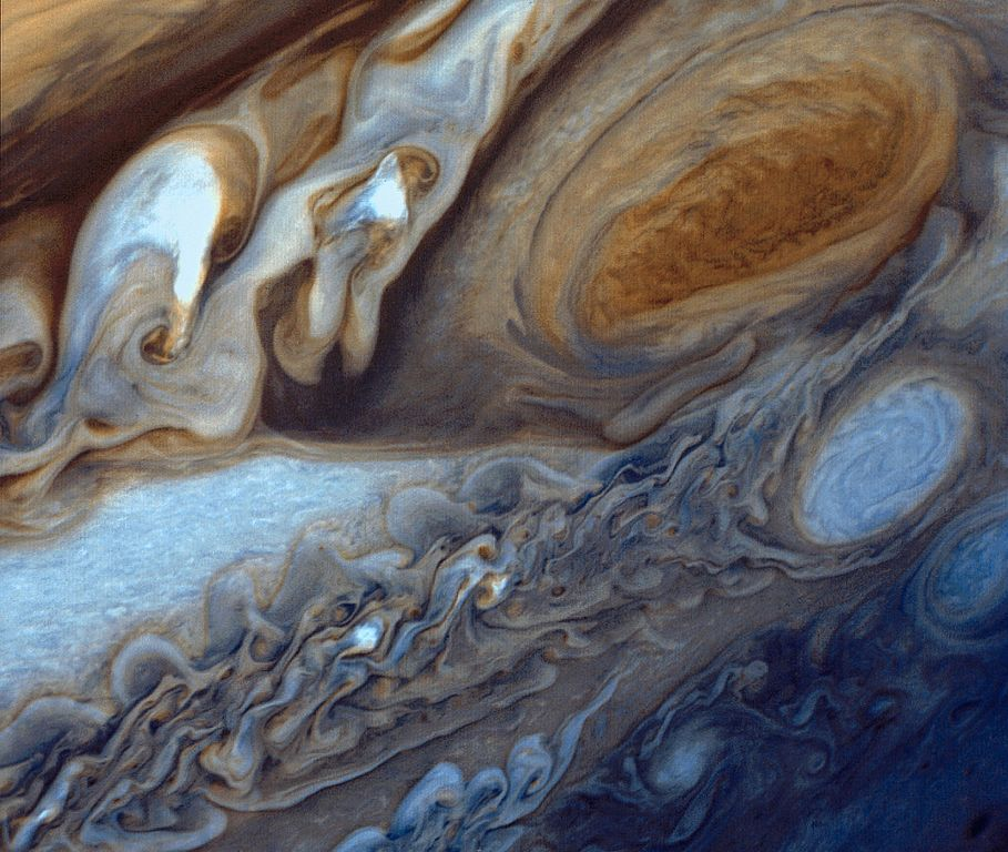 Les substances gazeuses de Jupiter