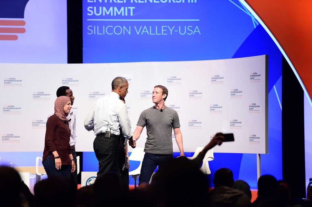 Obama au global entrepreneurship summit de 2016 dans la Silicon Valley