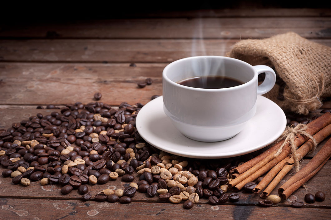 Une tasse de café via Depositphotos