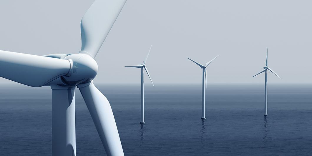 Un parc éolien offshore via Depositphotos