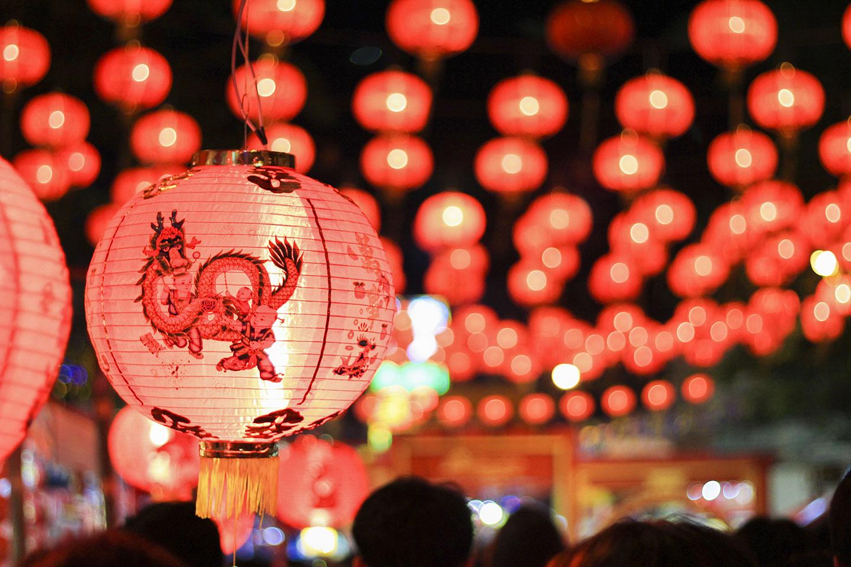 Des décoration au nouvel an chinois via Depositphotos