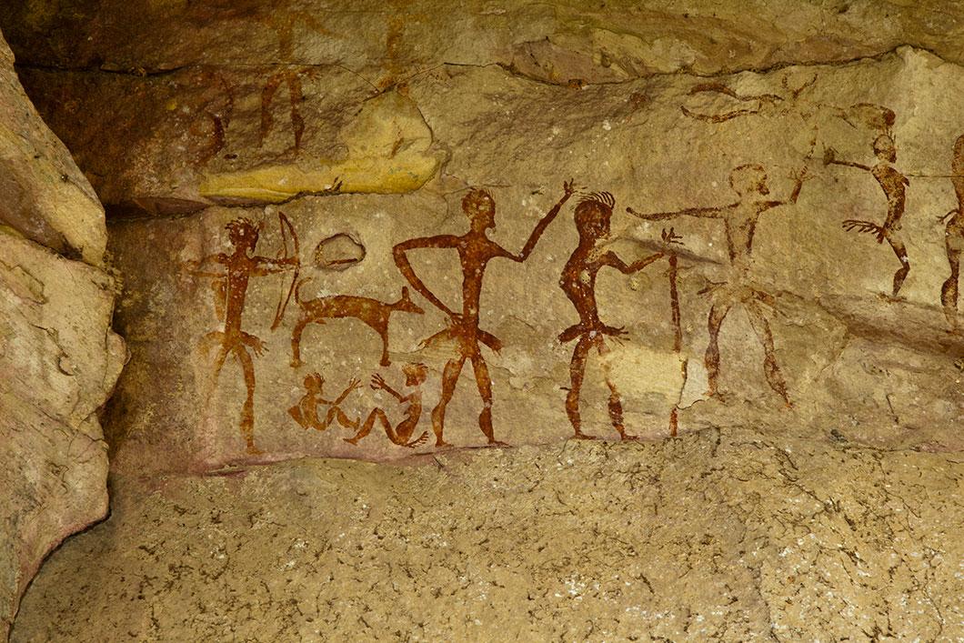 Des peintures préhistoriques via Depositphotos