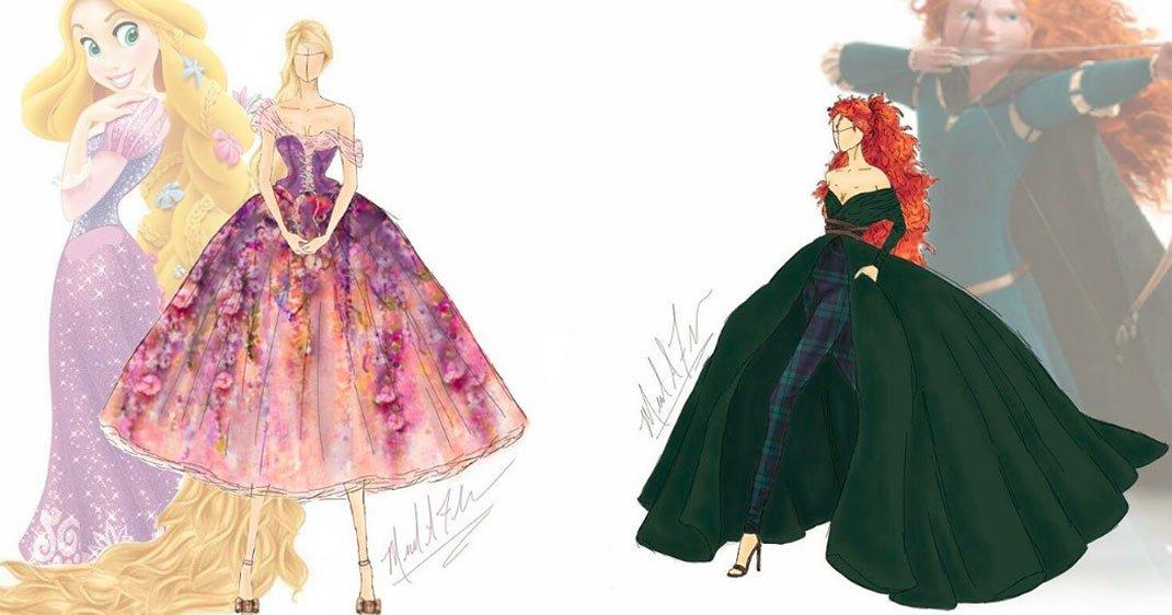 Cet artiste transforme les robes des princesses disney en cr ations de haute couture daily - Robe princesse disney adulte ...
