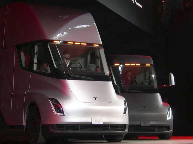 tesla vient de d voiler le camion lectrique qui va r volutionner le transport de marchandises. Black Bedroom Furniture Sets. Home Design Ideas