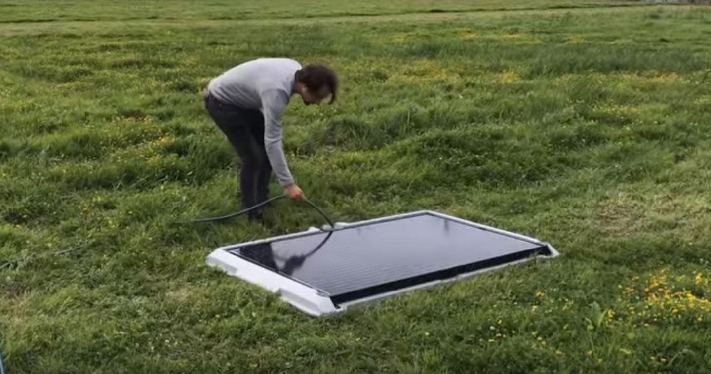 ce panneau solaire mobile s installe en moins de cinq. Black Bedroom Furniture Sets. Home Design Ideas