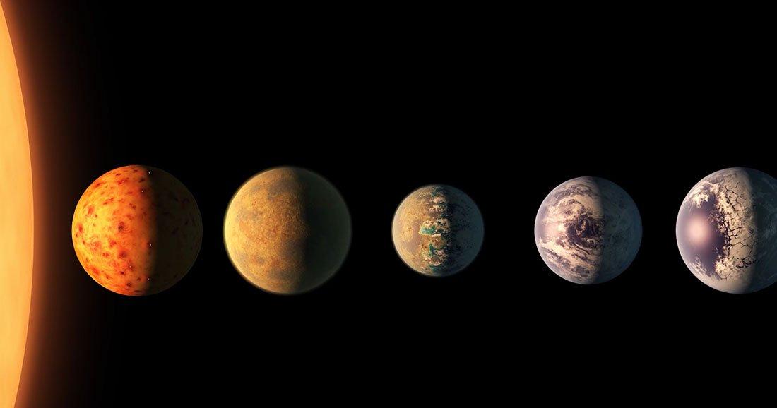 Les planètes de Trappist-1 pourraient - théoriquement - héberger la vie