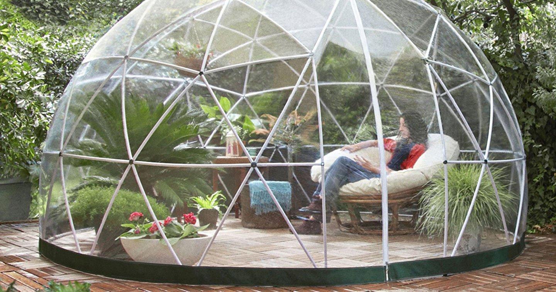 profitez de votre jardin en toutes saisons gr ce cette bulle qui vous prot ge des intemp ries. Black Bedroom Furniture Sets. Home Design Ideas