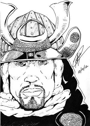 JAPAN ART  ⛩ - Page 5 Illustration-yasuke-samourai-noir