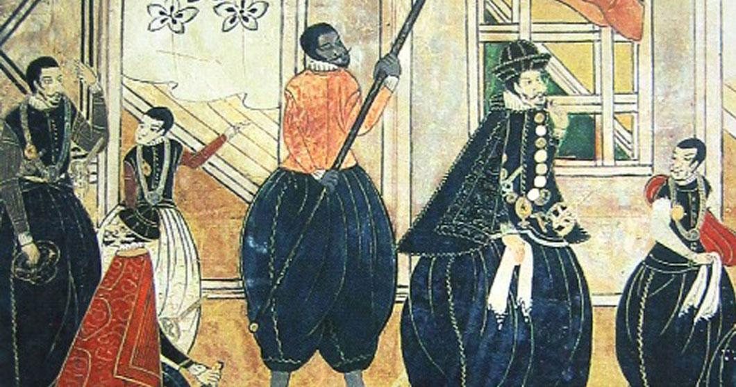 JAPAN ART  ⛩ - Page 5 Yasuke-esclave-samourai-noir
