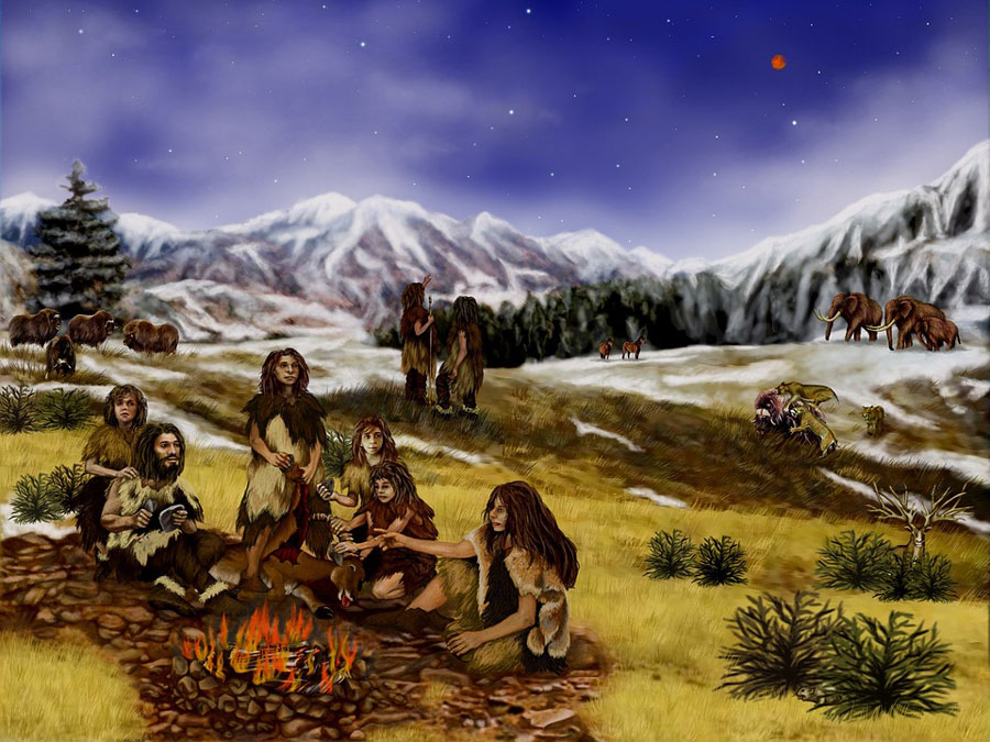 Les plus vieilles peintures rupestres jamais découvertes n'ont pas été réalisées par notre espèce !              Peinture-prehistorique-neandertal
