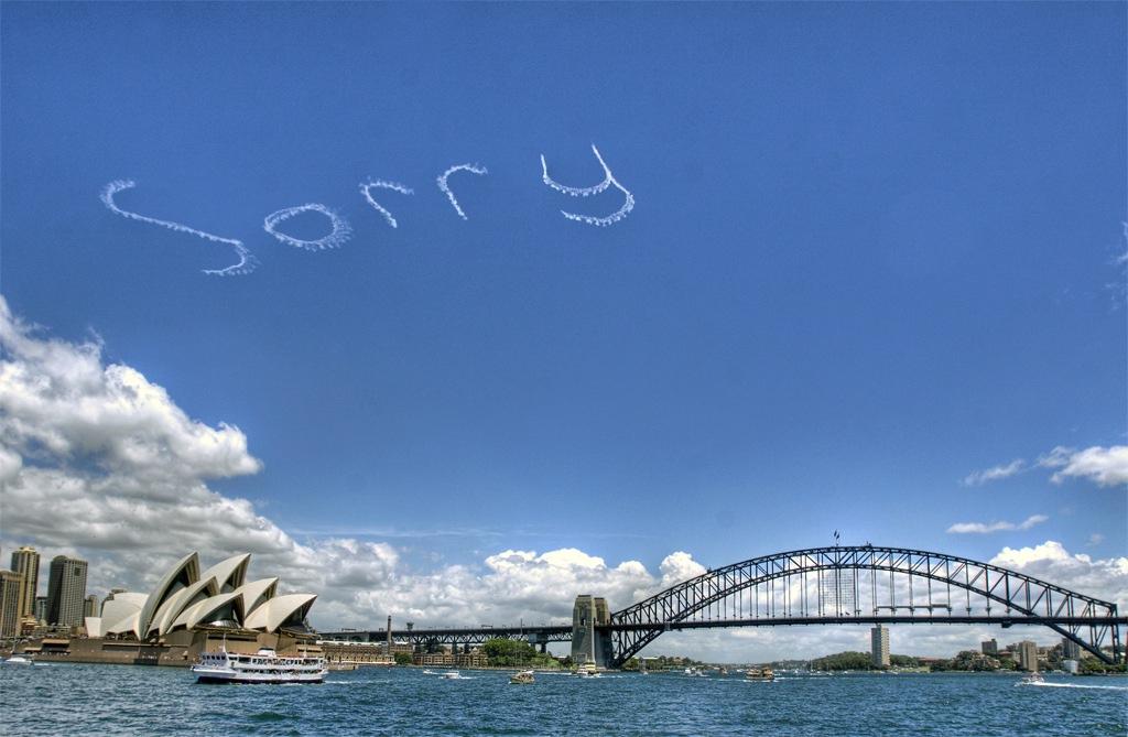 Des écritures dans le ciel de Sydney