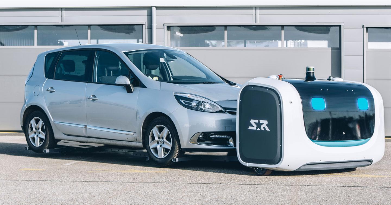 l 39 a roport de lyon votre voiture est d sormais gar e par un robot. Black Bedroom Furniture Sets. Home Design Ideas