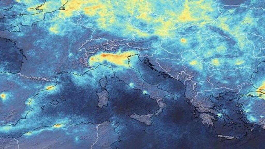 Coronavirus, ESA: la pollution diminue en Italie