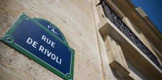 Rue Rivoli à Paris