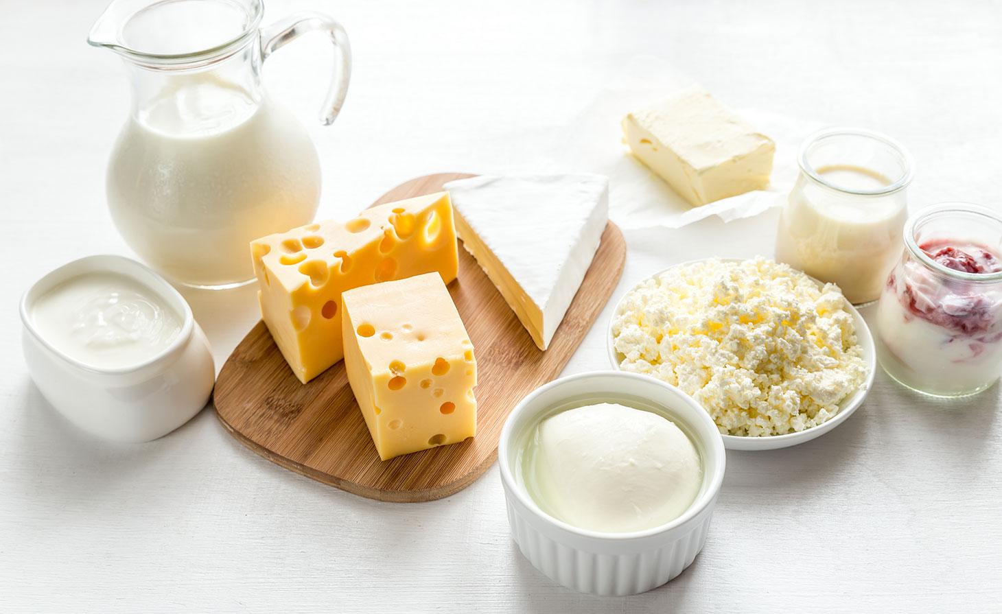 Des produits laitiers via Shutterstock