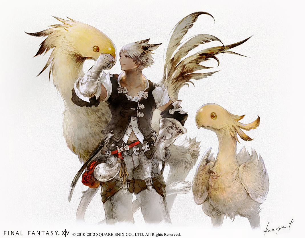 FFXIV-A-Realm-Reborn-Chocobo-and-Miqote