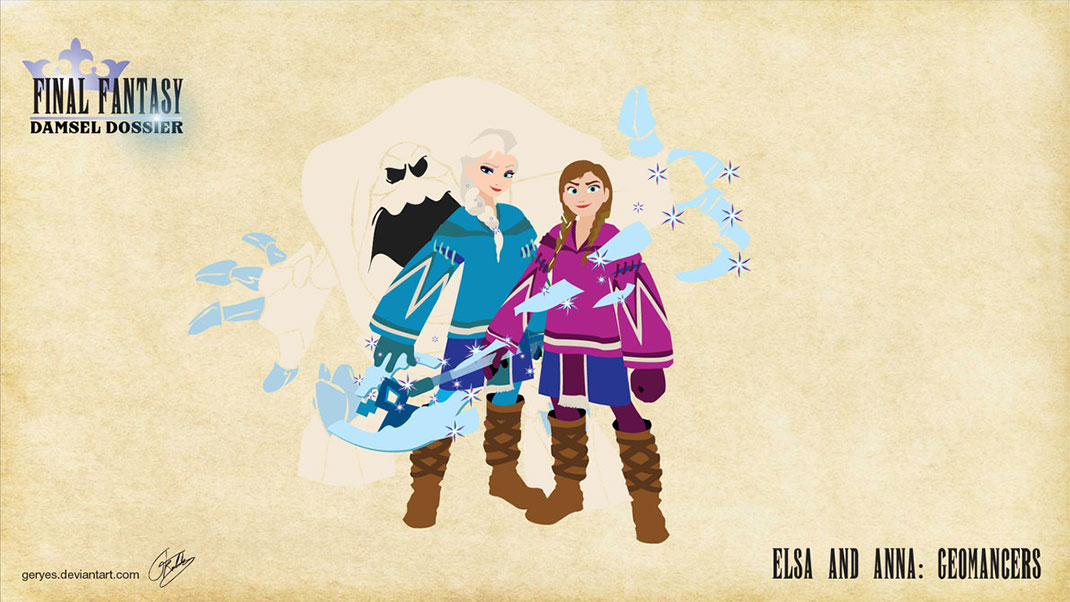 elsa_and_anna_geomancers_by_geryes-d6xlsrz