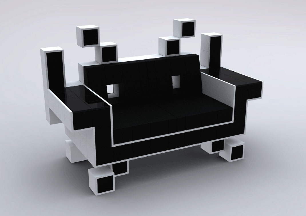 Fauteuil-Space-Invader