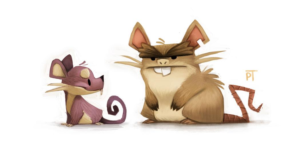 Cet artiste de talent transforme les pok mon en des personnages de cartoon trop craquants - Pokemon ferosinge ...