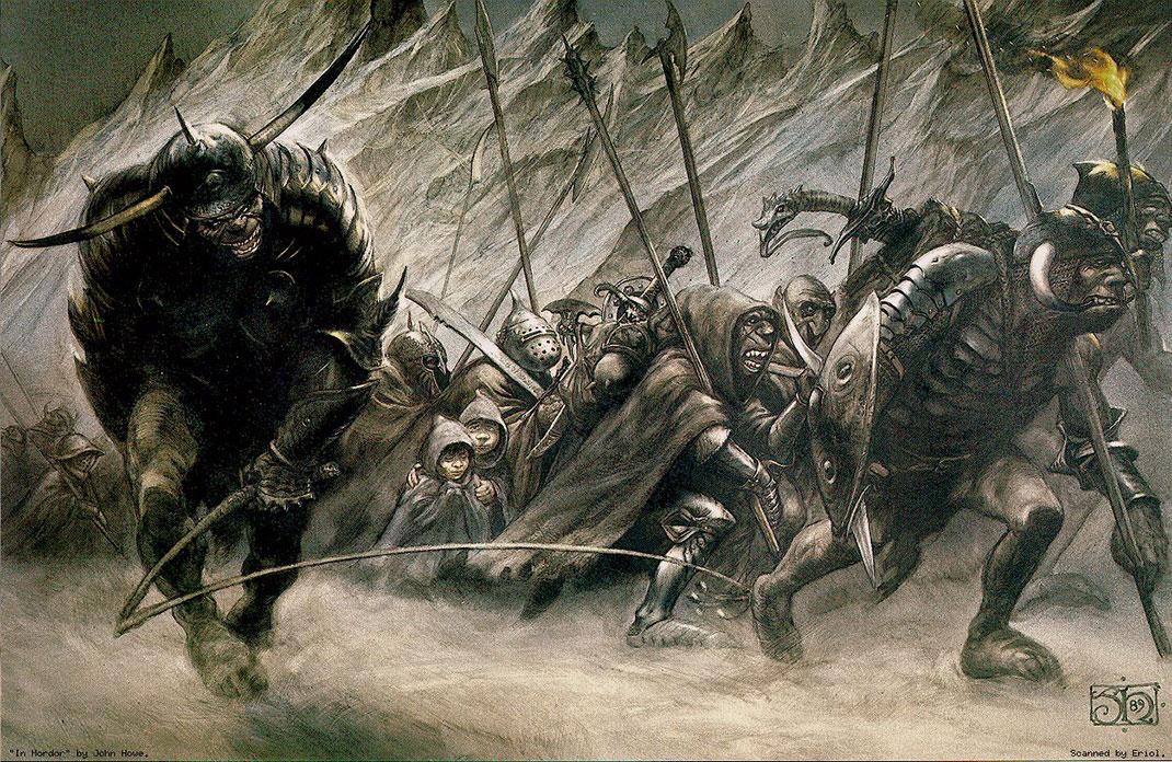 John-Howe---Merry-et-Pippin-prisonniers-des-orcs