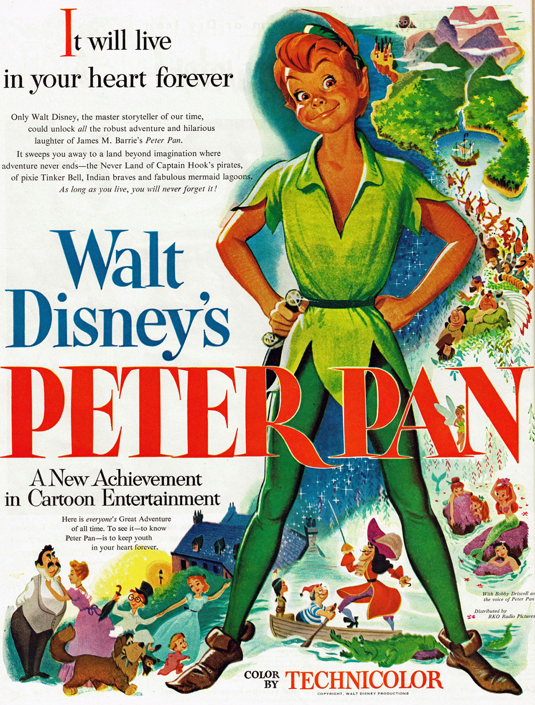 Peter Pan-Walt Disney-Affiche