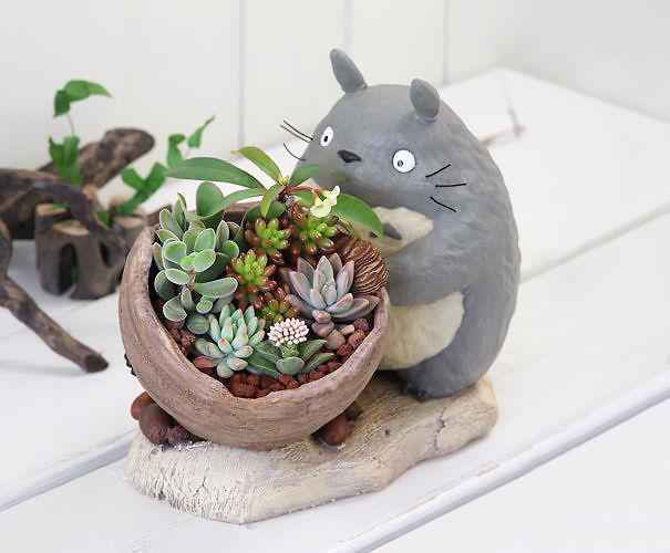Pot-de-fleur-totoro