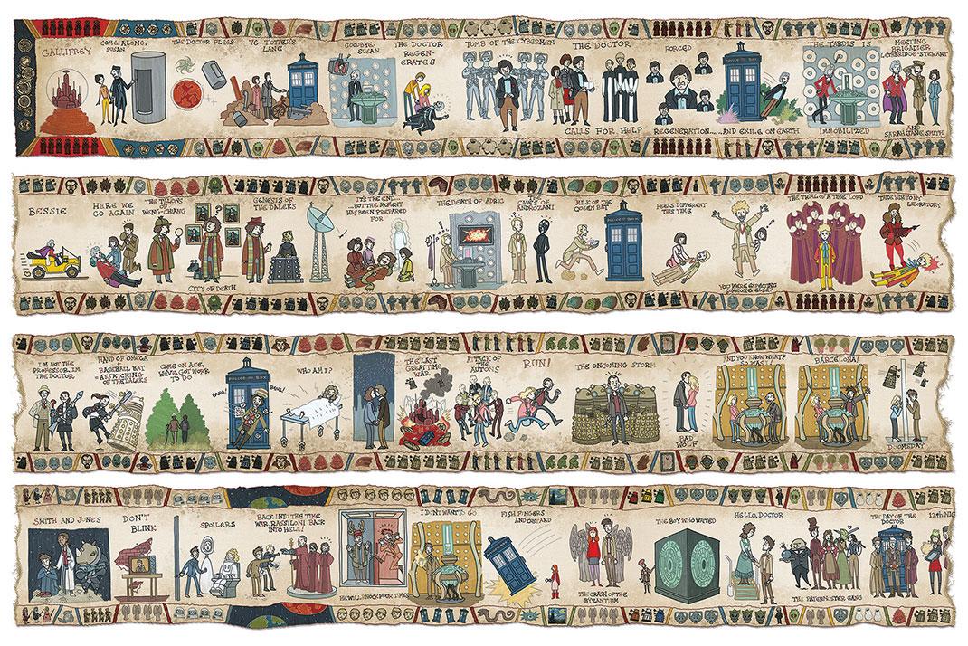 Ce passionn a rendu hommage doctor who en r alisant une fresque g ante qui retrace l histoire - Qu est ce que la tapisserie de bayeux ...