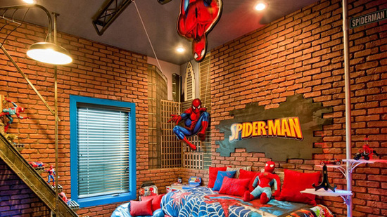 chambre-spiderman