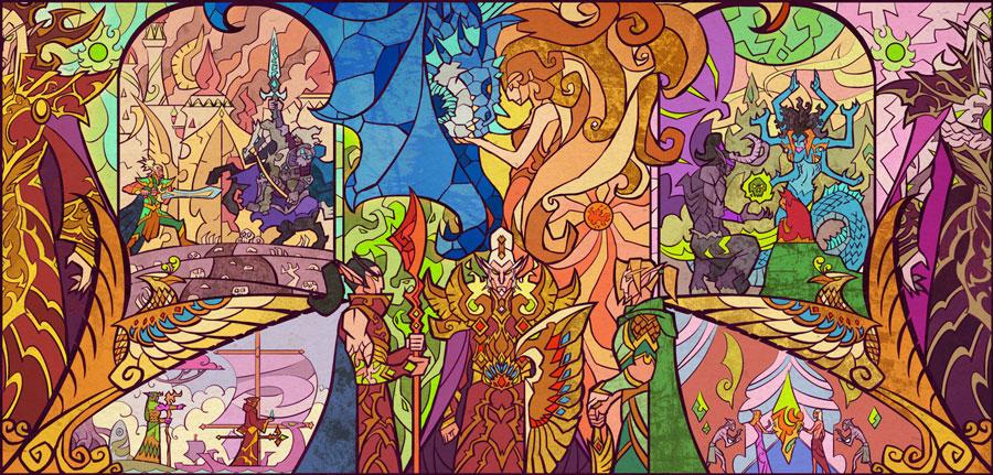 vitraux-wow-histoire-elfe-sang