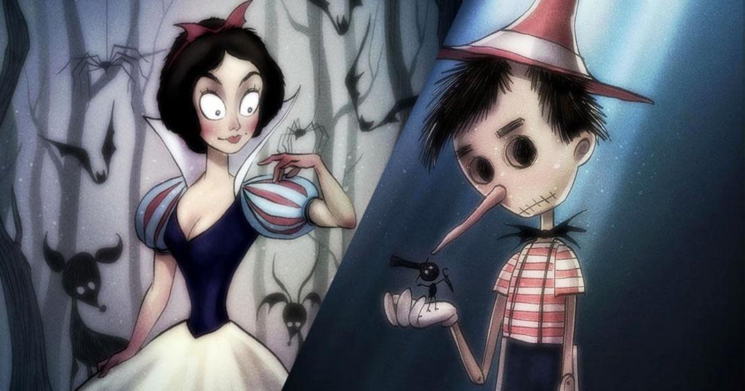 Blanche-neige-Pinocchio-Une