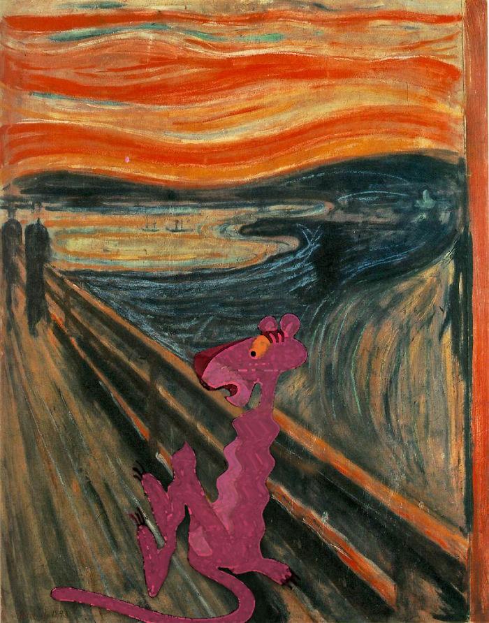 détournement-tableau-panthère-rose